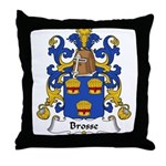 Brosse Family Crest Throw Pillow
