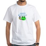 HOPPY BDAY White T-Shirt