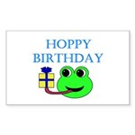HOPPY BDAY Rectangle Sticker