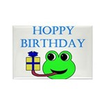 HOPPY BDAY Rectangle Magnet (10 pack)