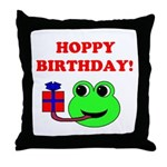 HOPPY BDAY Throw Pillow