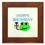 HOPPY BDAY Framed Tile