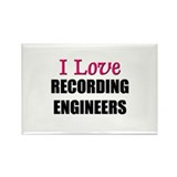I Love RECORDING ENGINEERS Rectangle Magnet (10 pa
