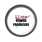 I Love RECORD PRODUCERS Wall Clock