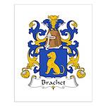 Brachet Family Crest Small Poster