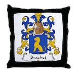 Brachet Family Crest Throw Pillow