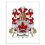 Boutillier Family Crest Small Poster