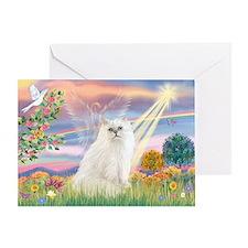 Cloud Angel White Persian Greeting Card