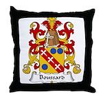Boussard Family Crest Throw Pillow