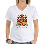Boussard Family Crest Women's V-Neck T-Shirt