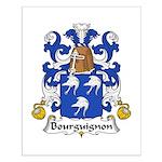 Bourguignon Family Crest Small Poster