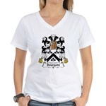 Bourgoin Family Crest Women's V-Neck T-Shirt