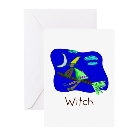 Kid Art Witch Greeting Cards (Pk of 10)