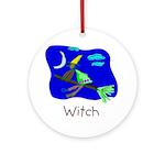 Kid Art Witch Ornament (Round)