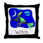 Kid Art Witch Throw Pillow