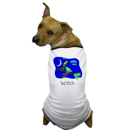 Kid Art Witch Dog T-Shirt