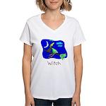 Kid Art Witch Women's V-Neck T-Shirt