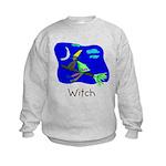 Kid Art Witch Kids Sweatshirt