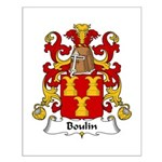 Boulin Family Crest Small Poster