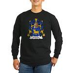 Bouhier Family Crest Long Sleeve Dark T-Shirt
