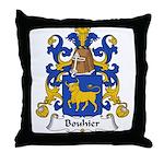 Bouhier Family Crest Throw Pillow