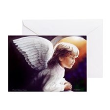 Little Angel in the Archway Holiday Greeting Card