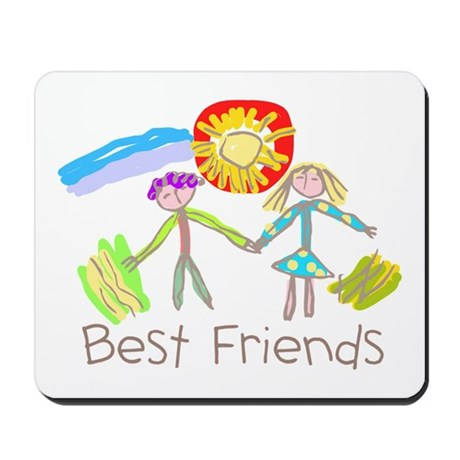 Kid Art Best Friends Mousepad