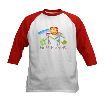 Kid Art Best Friends Kids Baseball Jersey
