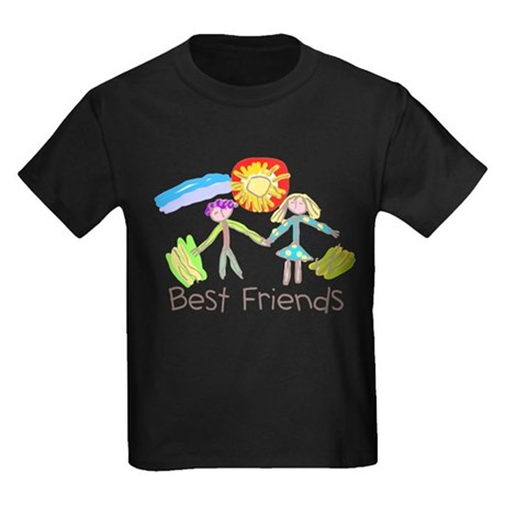 Kid Art Best Friends Kids Dark T-Shirt