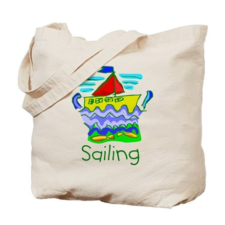 Kid Art Sailing Tote Bag