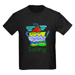 Kid Art Sailing Kids Dark T-Shirt