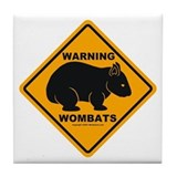 Wombat Warning Tile Coaster