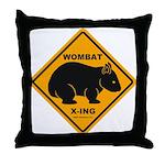 Wombat Xing Throw Pillow