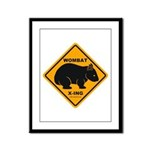 Wombat Xing Framed Panel Print