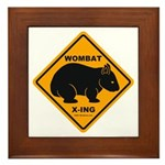 Wombat Xing Framed Tile