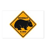 Wombat Xing Postcards (Package of 8)
