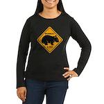 Wombat Xing Women's Long Sleeve Dark T-Shirt