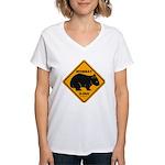 Wombat Xing Women's V-Neck T-Shirt