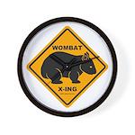 Wombat Xing Wall Clock