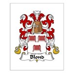 Blond Family Crest Small Poster