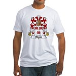 Blond Family Crest Fitted T-Shirt