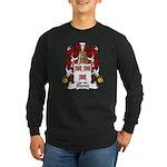Blond Family Crest Long Sleeve Dark T-Shirt