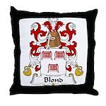 Blond Family Crest Throw Pillow