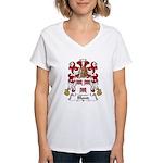 Blond Family Crest Women's V-Neck T-Shirt