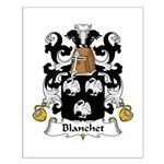 Blanchet Family Crest Small Poster