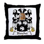 Blanchet Family Crest Throw Pillow