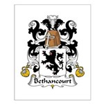 Bethancourt Family Crest Small Poster