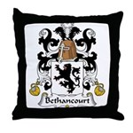 Bethancourt Family Crest Throw Pillow