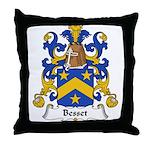 Besset Family Crest Throw Pillow
