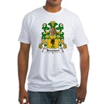 Besancon Family Crest  Fitted T-Shirt
